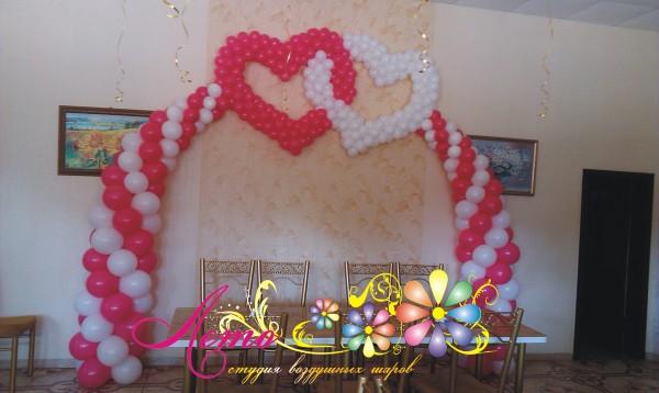 Украшение свадьбы воздушными шарами Лето 5