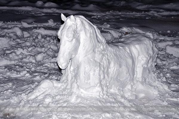 Снежный Лошади к новому году своими руками