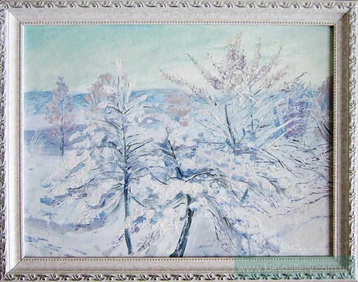 Зима на Оболони. 30 x 40 см, масло, 2010 г.