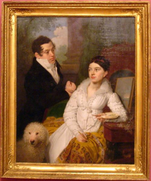 Ваш браузер не отображает рисунки и поэтому вы не видите портрет князя Алексея Лобанова-Ростовского и его жены