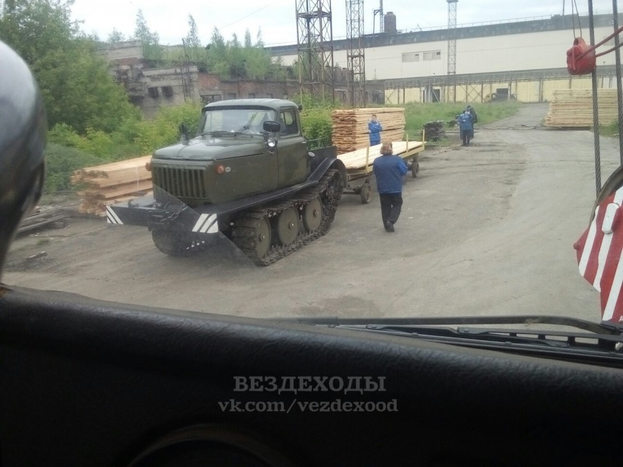 газ-53-гусеницы