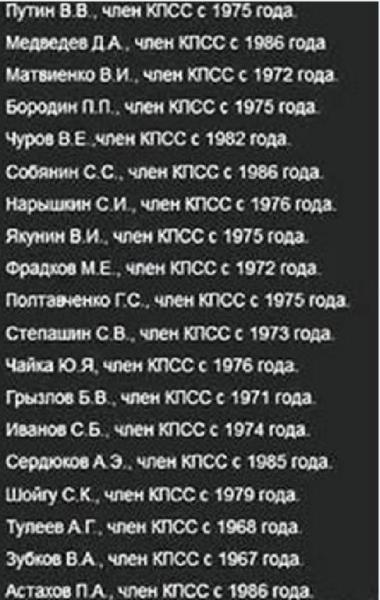 кпсс путинцы