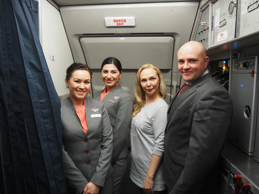 Команда бортпроводников экипажа Red Wings