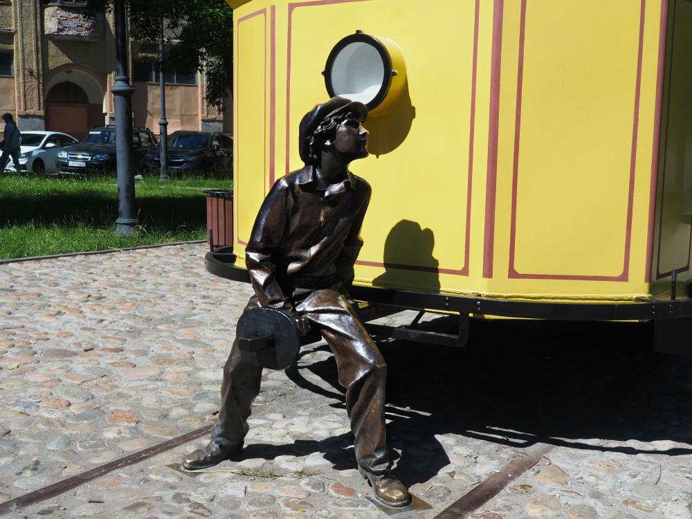 Трамвай-памятник Выборг