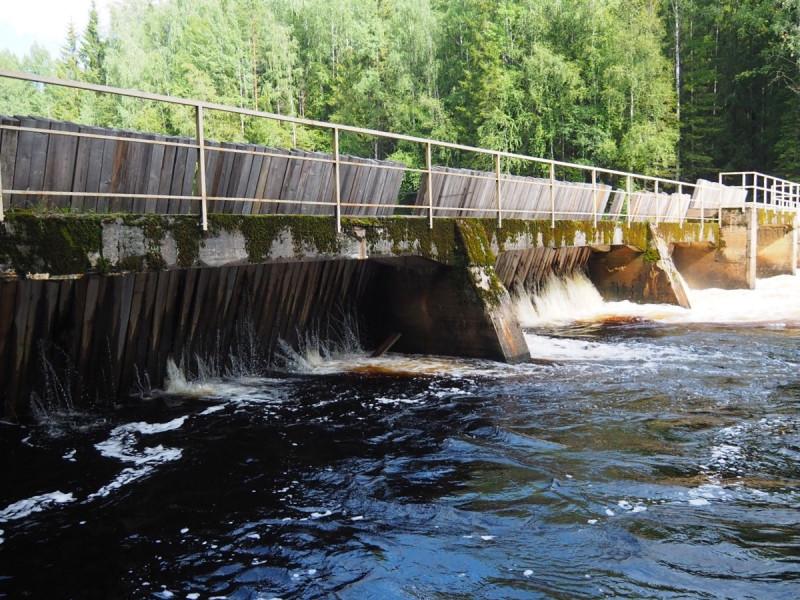 Финский арочный мост Карелия. Река Янисйоки