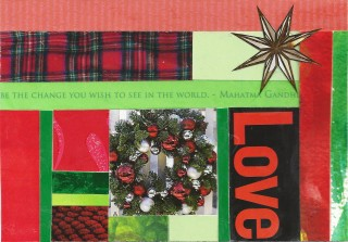 A geometric Christmas collage