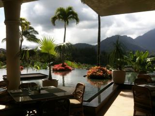View from the St. Regis Makana Terrace, Princeville, Kauai