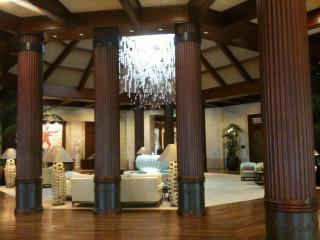 St. Regis Hotel (Princeville, Kauai) main lobby with chandelier