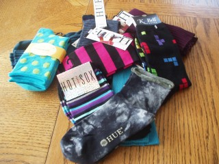 Brights, stripes, polka dots, tie-dye, and Tetris