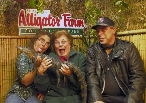 Crazy family + sad gator at the Saint Augustine Alligator Farm