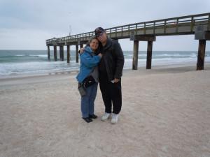 The Atlantic Ocean at Anastasia Island - near Saint Augustine, Florida