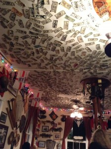 Ceiling at the Prince of Wales pub - Saint Augustine, Florida