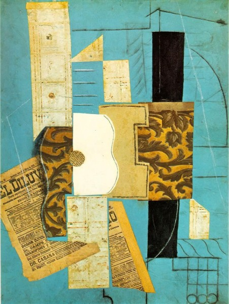 Picasso: guitar collage 1913