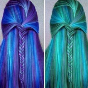 cool striped hair