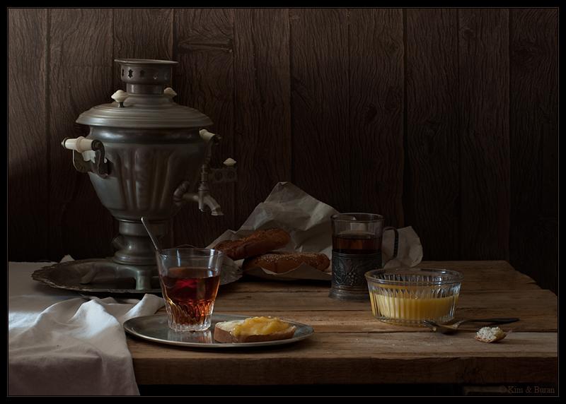 Этюд с чаем и медом
