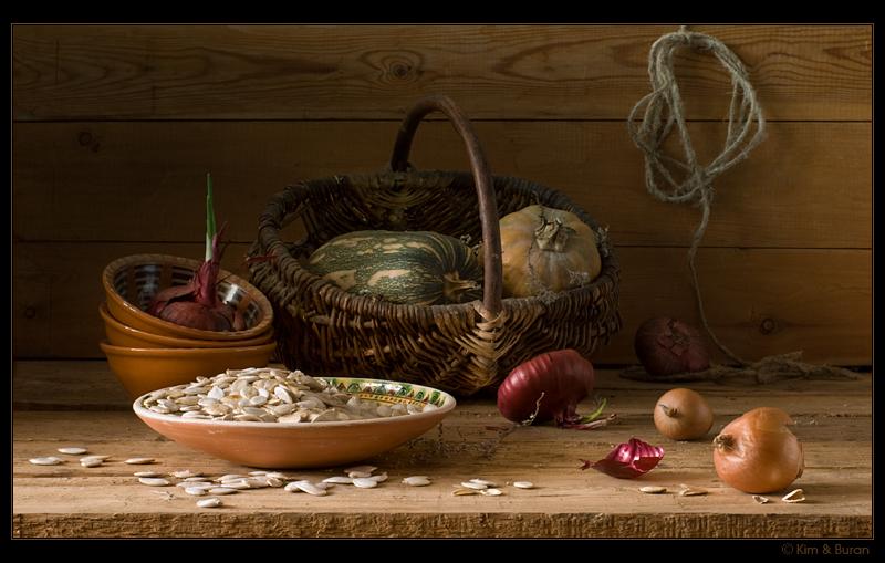 Натюрморт с тыквенными семечками