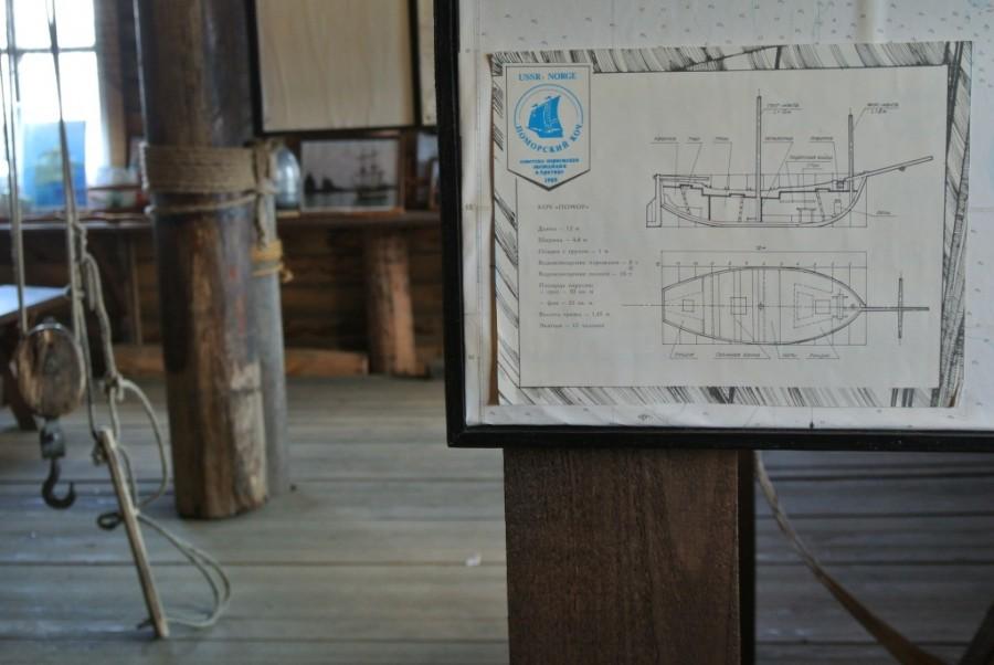 002. чертежи коча в музее