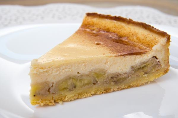 Тарт с карамелезироваными бананами и йогуртовым кремом