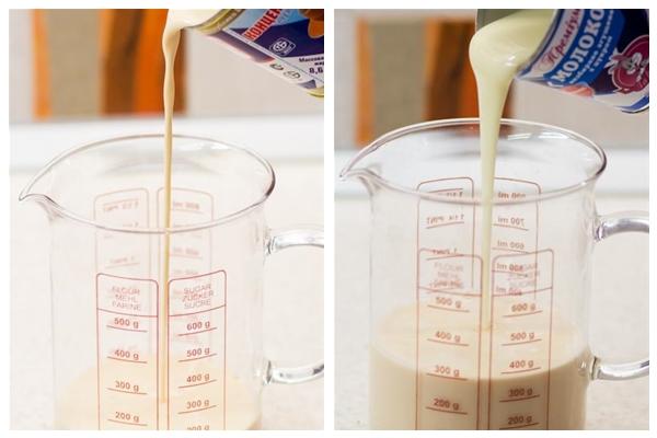 смешиваем молоко