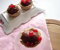 Тарталетки с грушевым желе и шоколадно-йогуртовым муссом (без выпечки)_новый размер