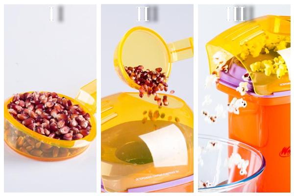 процесс приготовления попкорна
