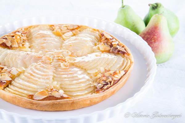 Tarte Bourdaloue (Pear and Almond Tart Bourdaloue Style)
