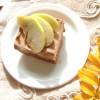 Яблочный пирог с гречневой мукой и йогуртовой заливкой