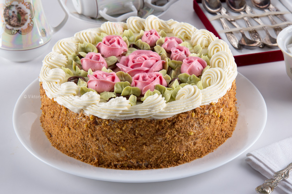 русский кремовый пирог фото