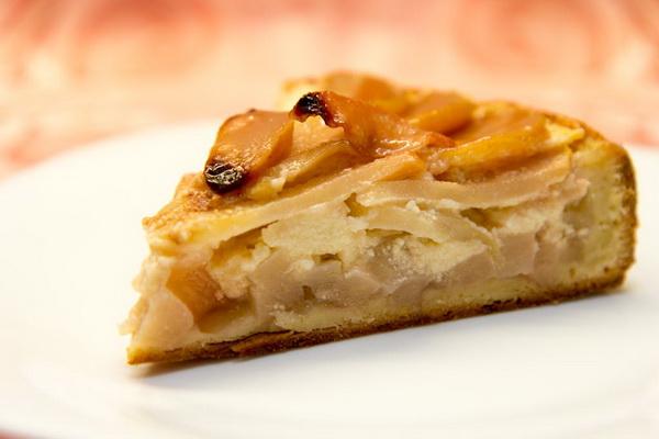 Дважды творожный пирог с ванильной грушей