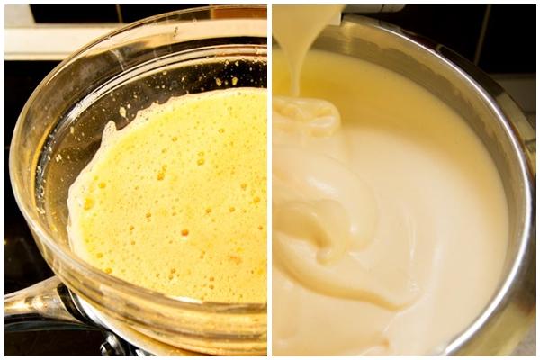 яйца на водяной бане и взбитые