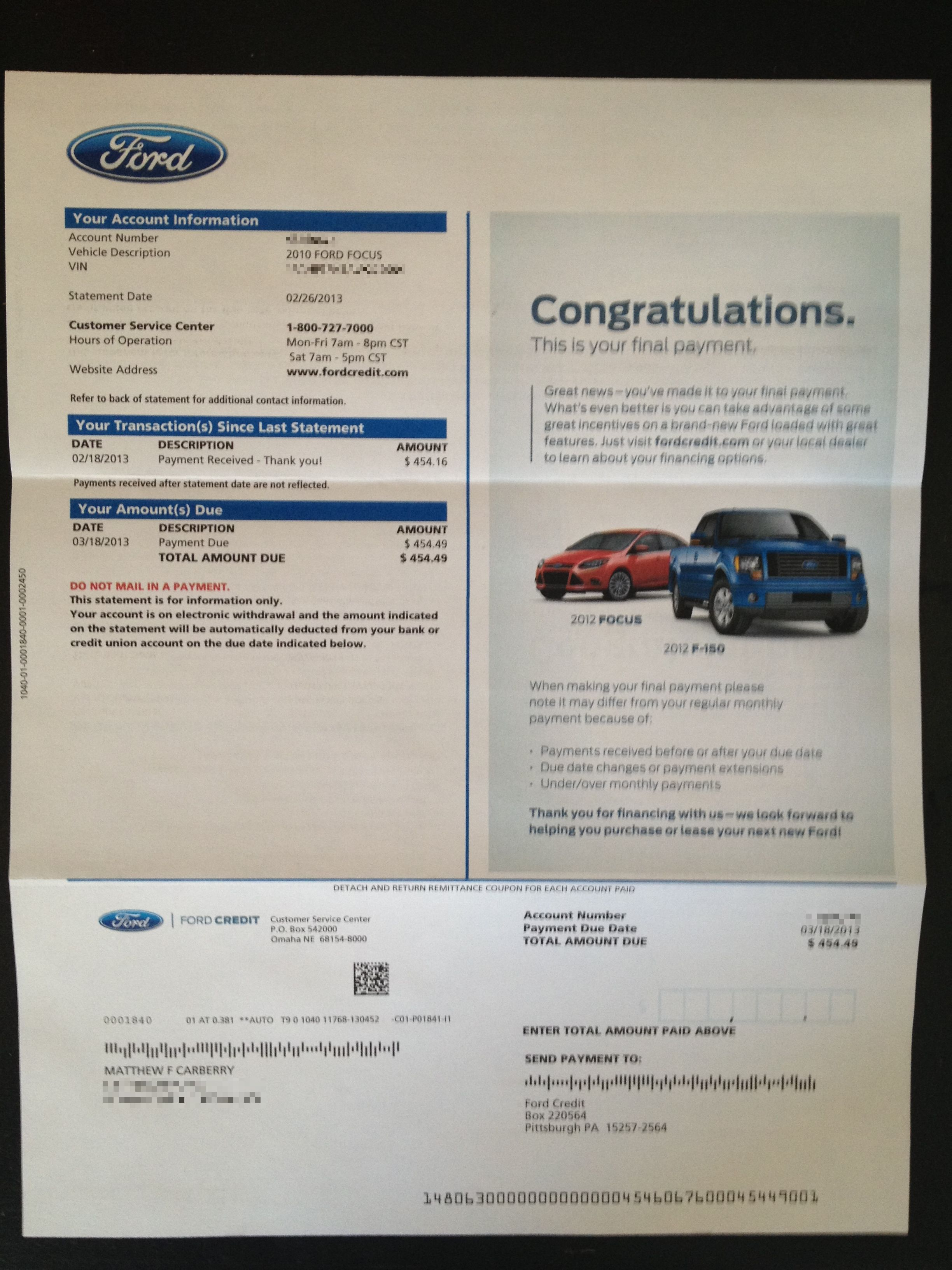 My Ford Credit >> S Sandberg Lean In M Carberry Lien Gone