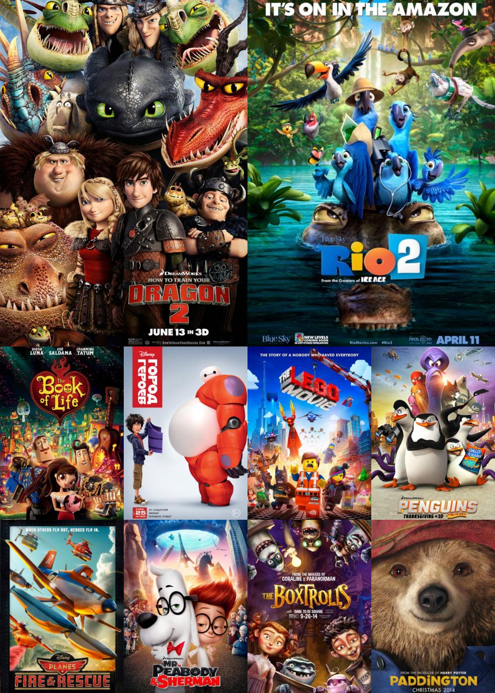 Top Animation Movies 2014