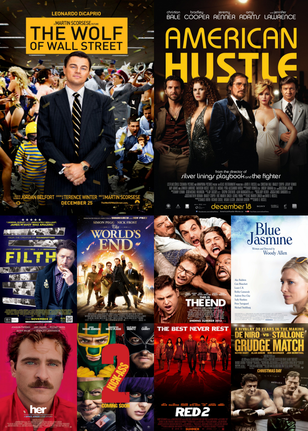 Top 10 Comedy Movies 2013