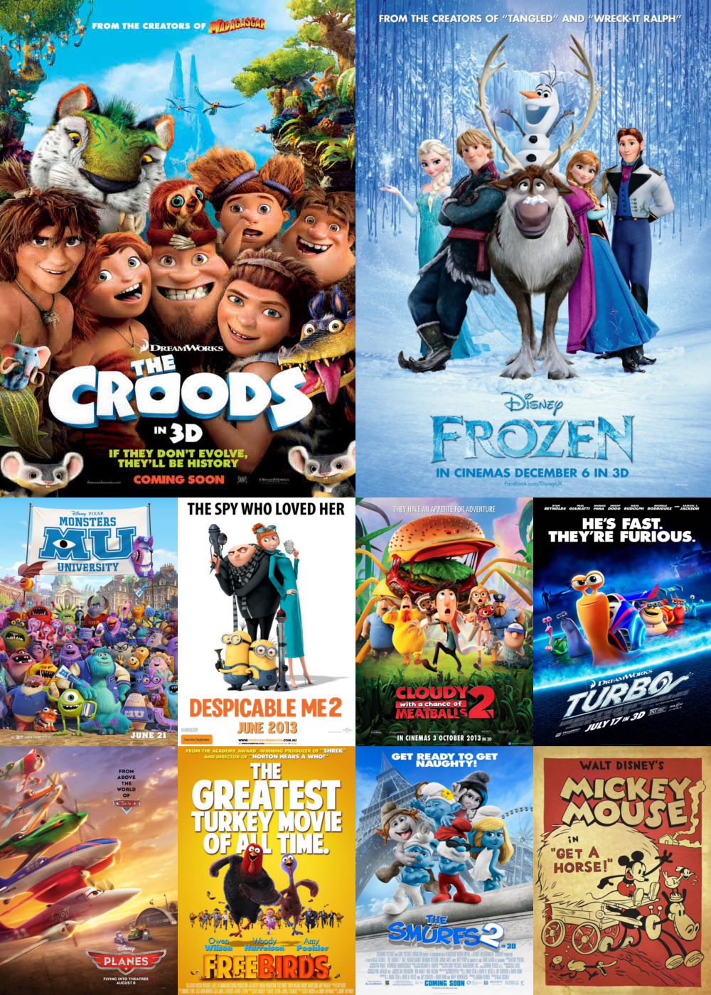 Top Animation Movies 2013