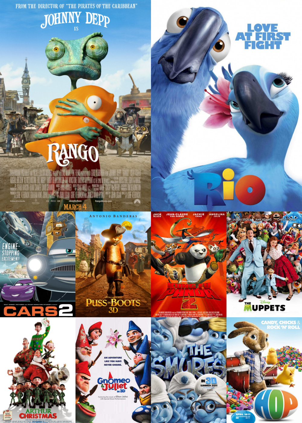 Top Animation Movies 2011