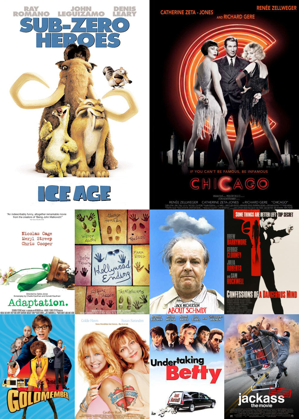 Top 1-10 Comedy Movies 2002