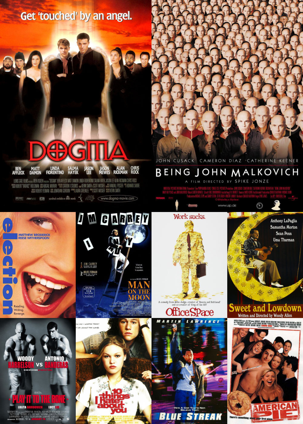 Top 1-10 Comedy Movies 1999
