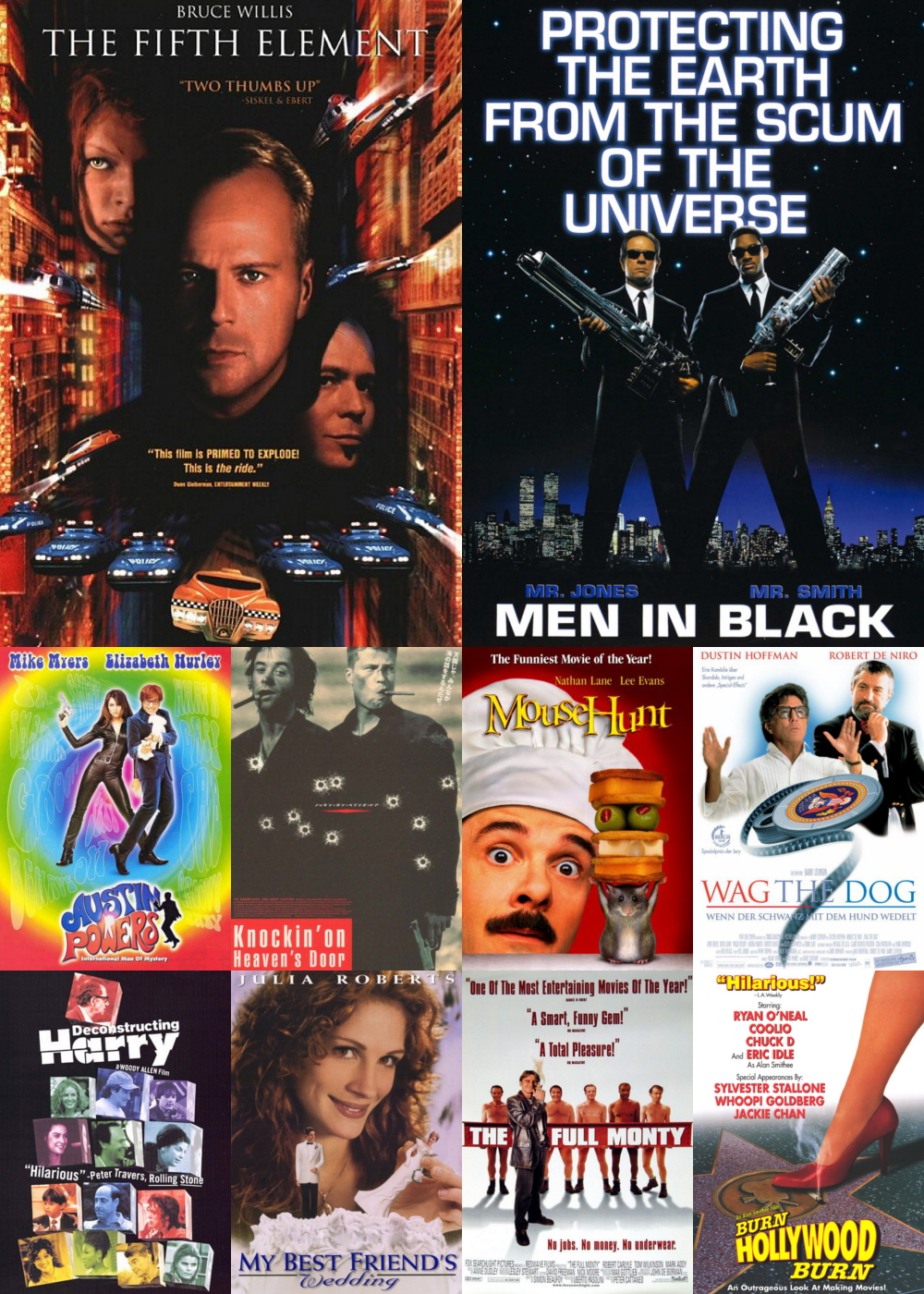 Top 1-10 Comedy Movies 1997