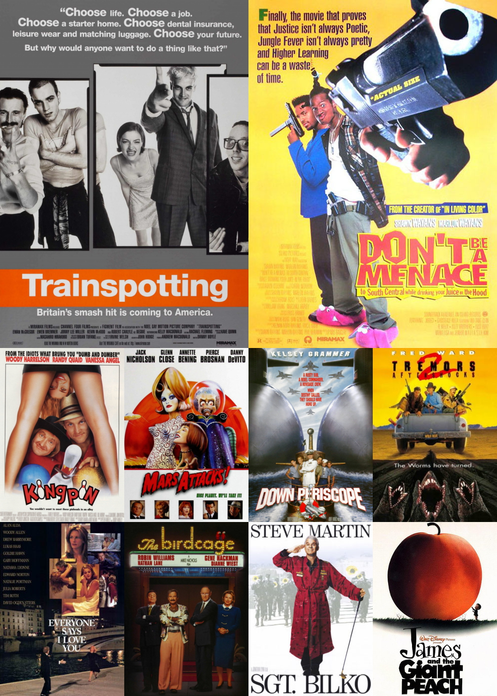 Top 1-10 Comedy Movies 1996