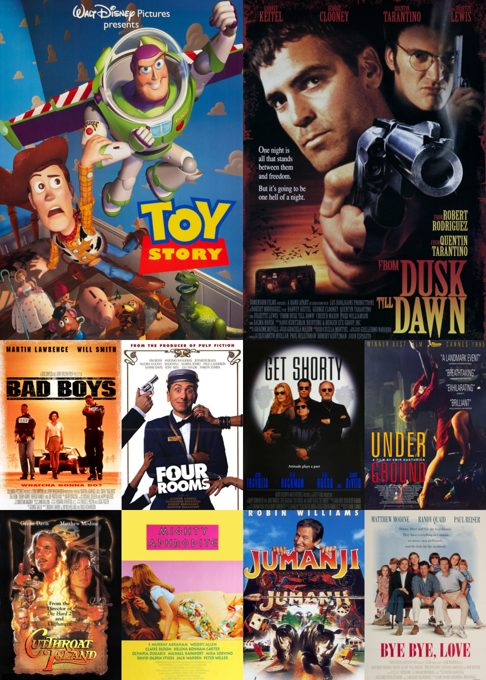 Top 1-10 Comedy Movies 1995