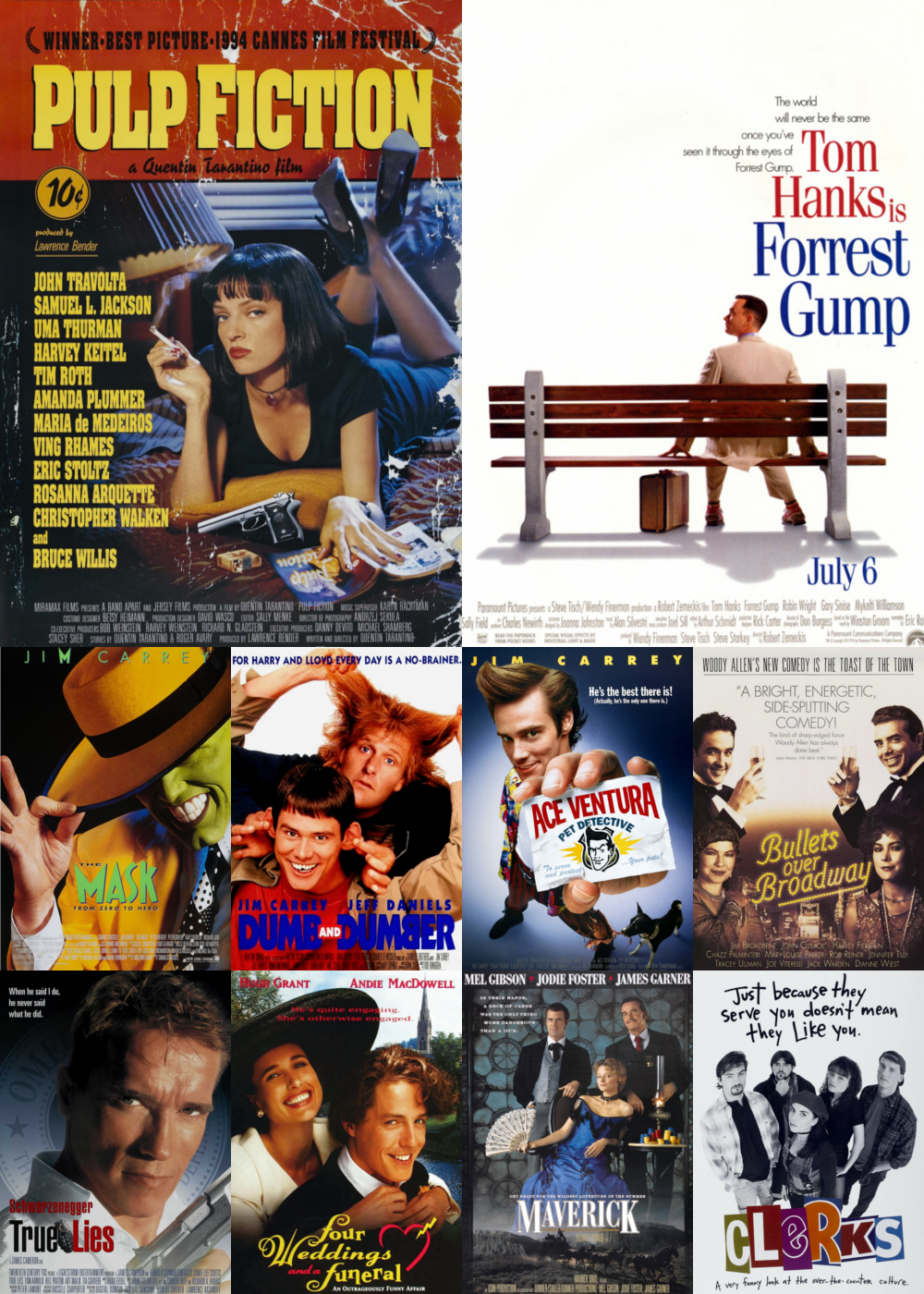 Top 1-10 Comedy Movies 1994