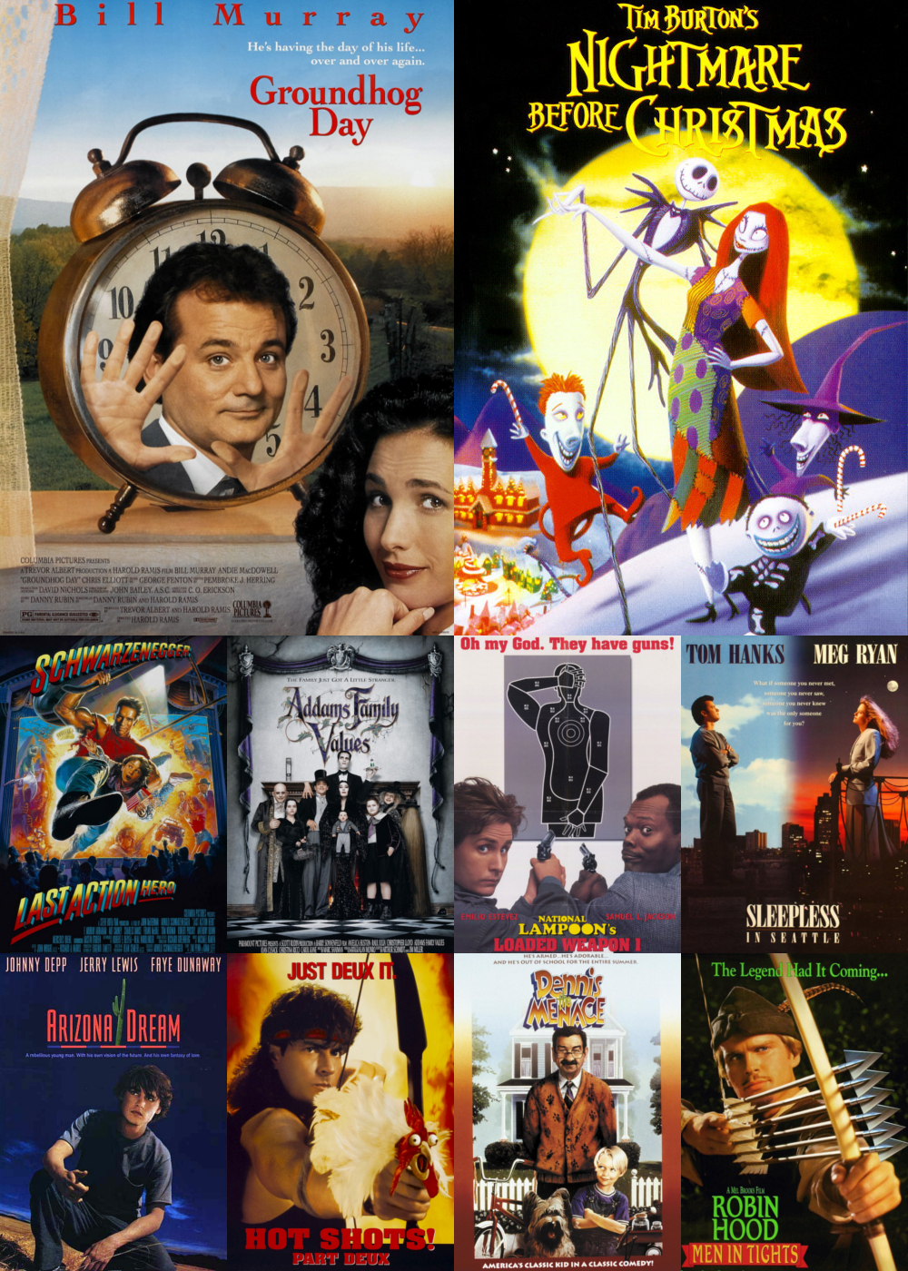 Top 1-10 Comedy Movies 1993