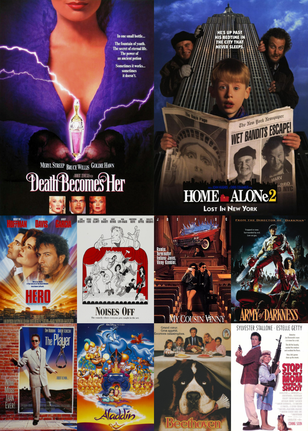 Top 1-10 Comedy Movies 1992