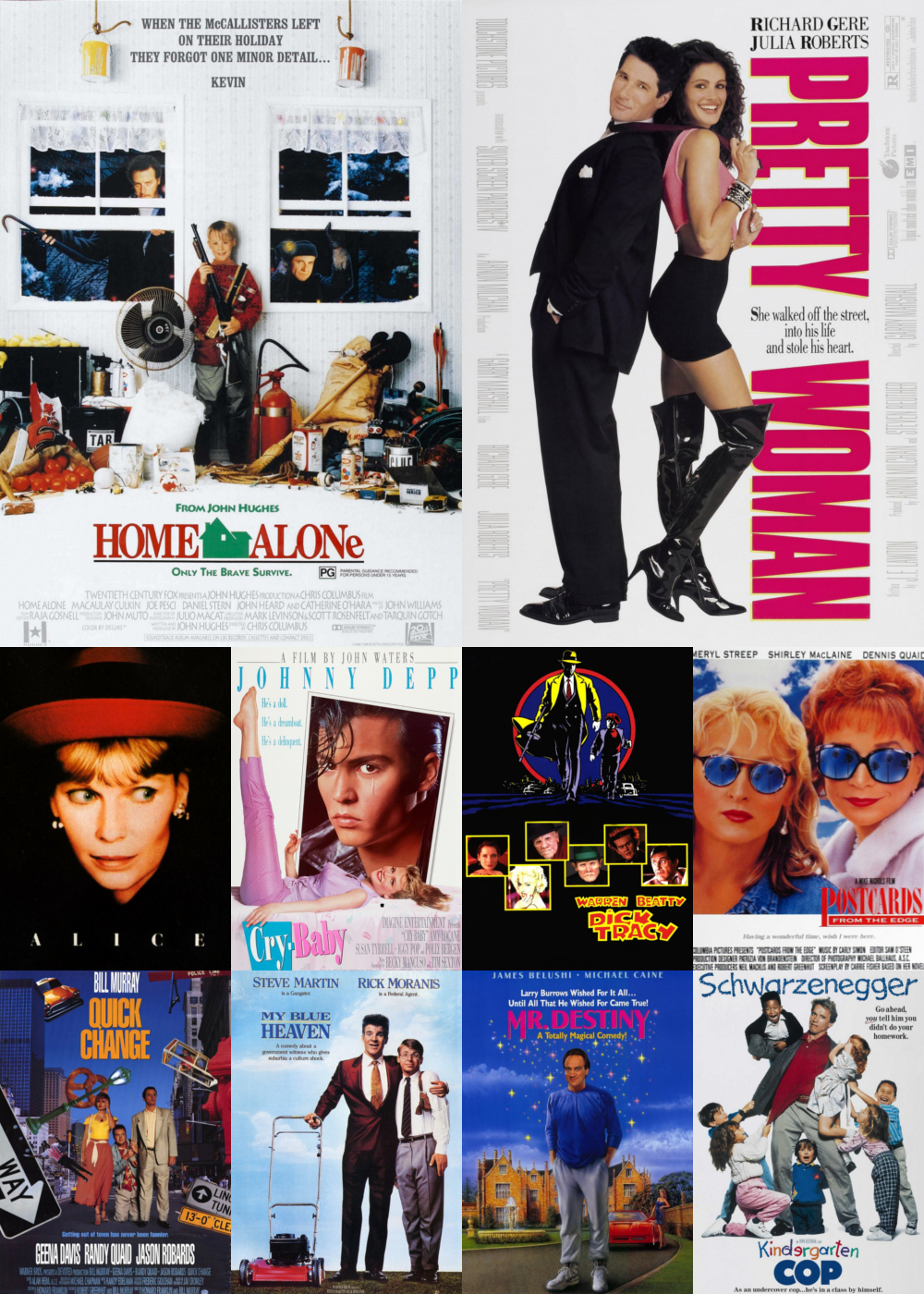Top 1-10 Comedy Movies 1990