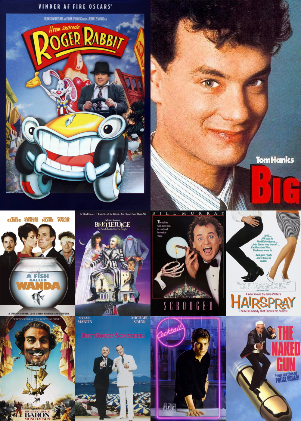 Top 1-10 Comedy Movies 1988