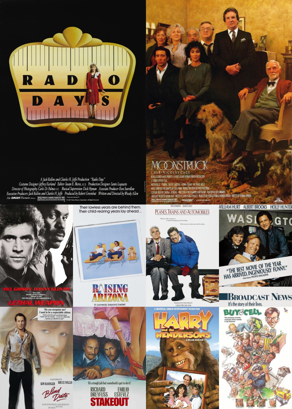 Top 1-10 Comedy Movies 1987