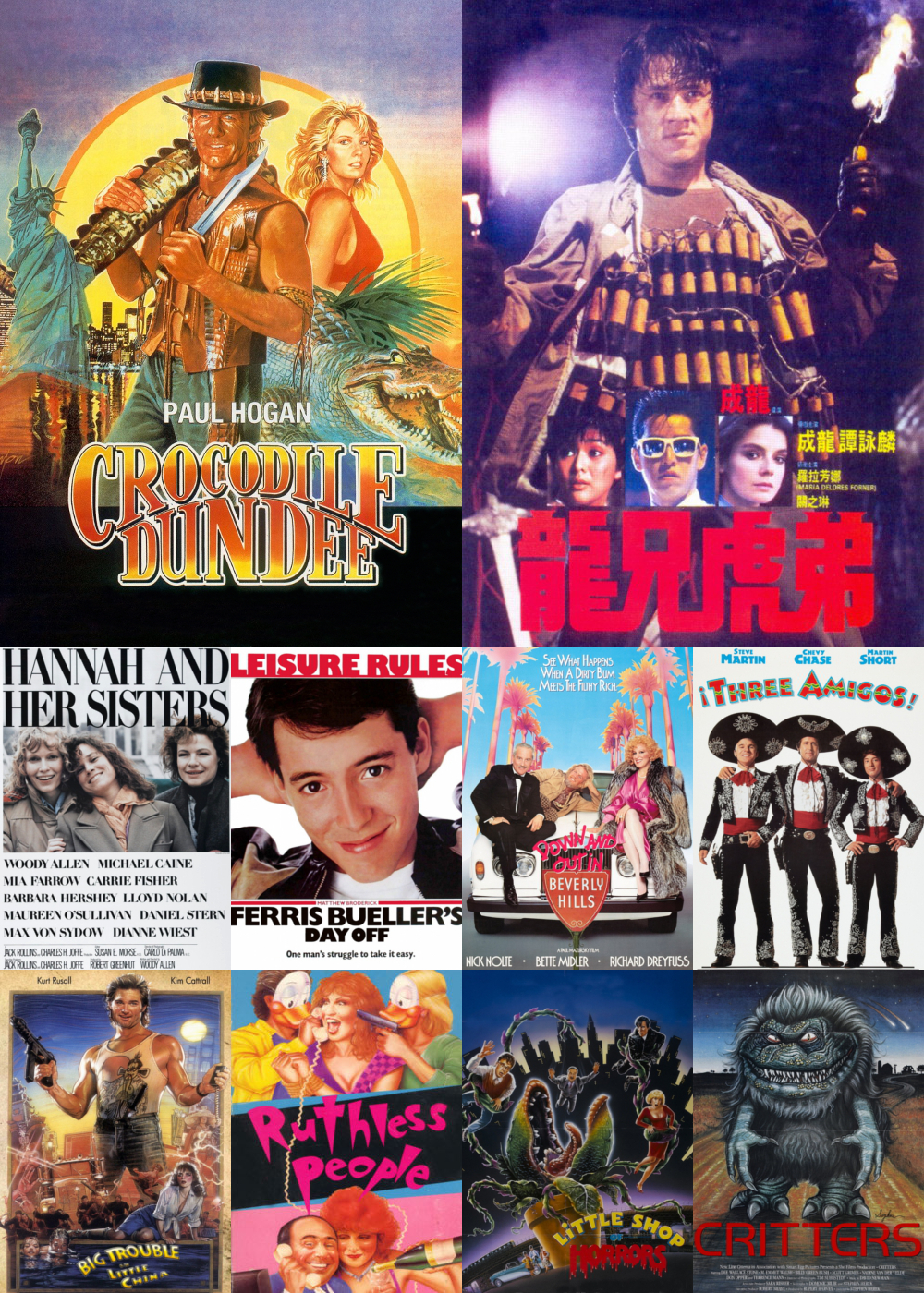 Top 1-10 Comedy Movies 1986