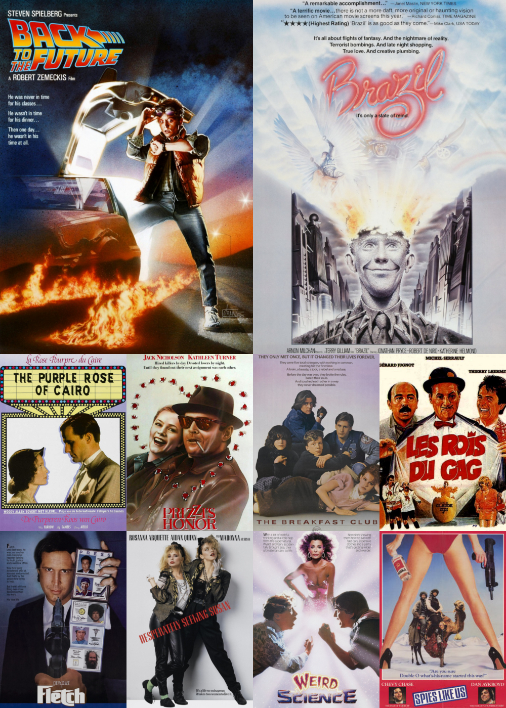 Top 1-10 Comedy Movies 1985