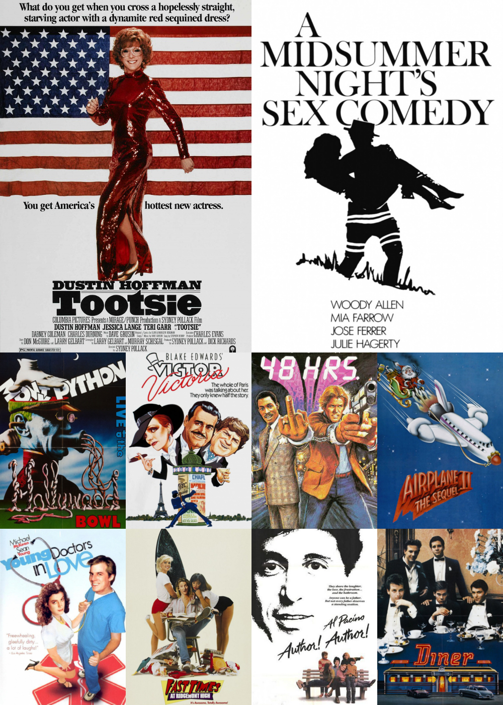 Top 1-10 Comedy Movies 1982