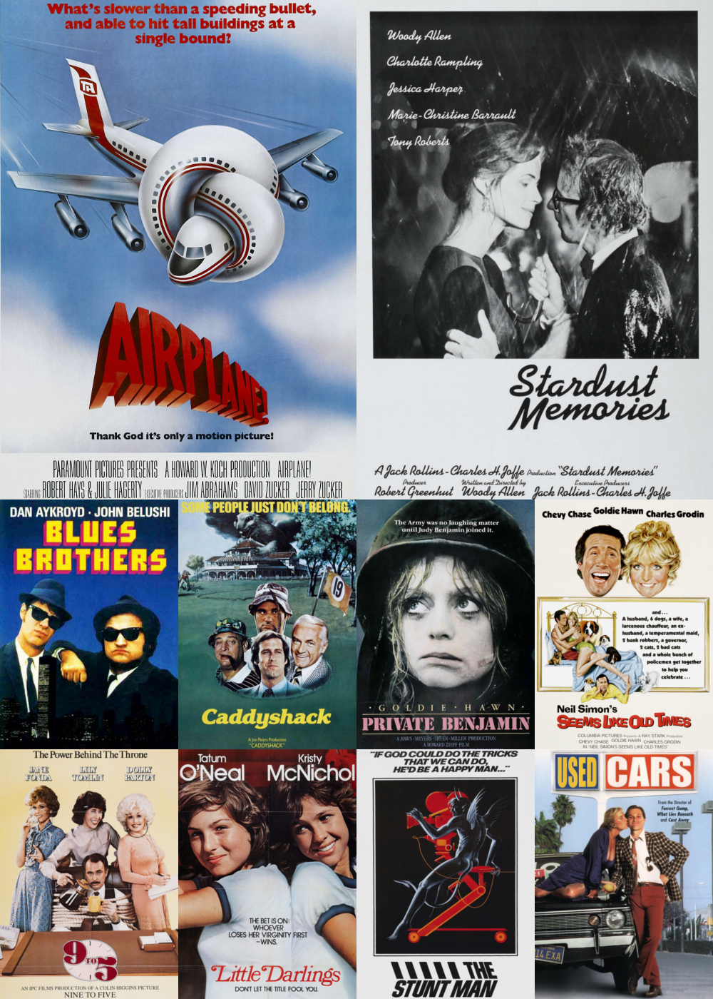 Top 1-10 Comedy Movies 1980